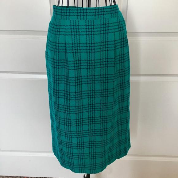 36374a9ba Pendleton Skirts | Vtg 1950s Miss Plaid Skirt 100 Wool 14 | Poshmark